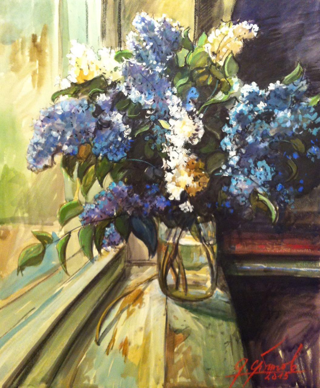 Мастер-класс «Пишем цветы с натуры», масло. Студия на Войковской.